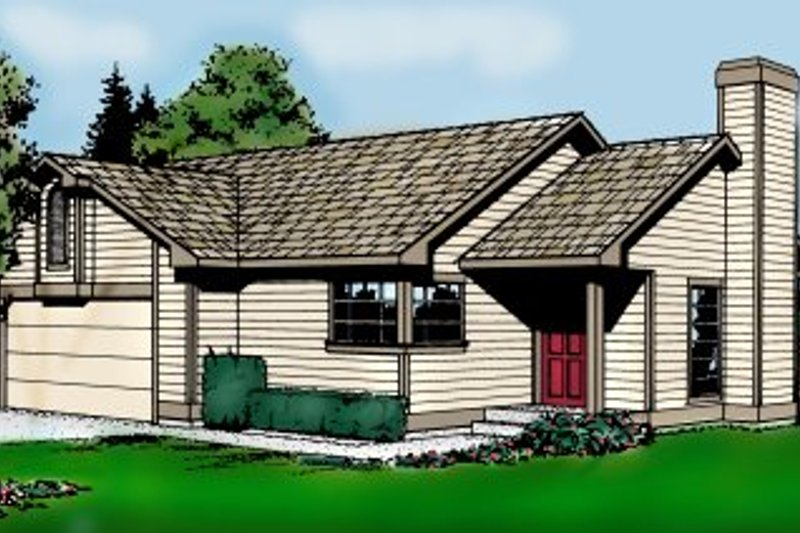 Traditional Exterior - Front Elevation Plan #87-104 - Houseplans.com