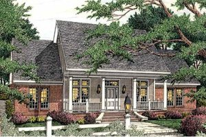 House Plan Design - Farmhouse Exterior - Front Elevation Plan #406-290