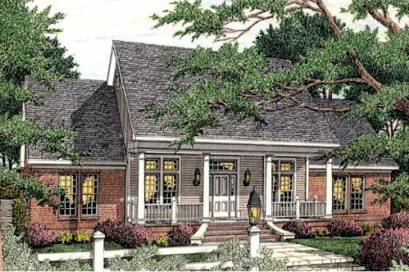 Dream House Plan - Farmhouse Exterior - Front Elevation Plan #406-290