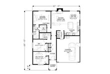 Craftsman Floor Plan - Main Floor Plan Plan #53-603