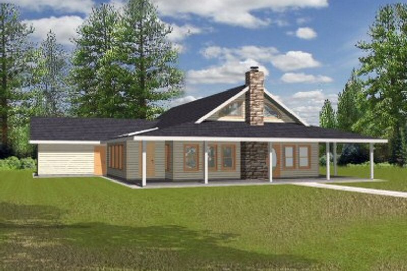 Architectural House Design - Southern Exterior - Front Elevation Plan #117-133