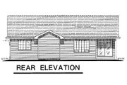 Ranch Style House Plan - 3 Beds 2 Baths 1097 Sq/Ft Plan #18-1001 Exterior - Rear Elevation