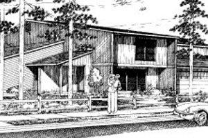 Modern Exterior - Front Elevation Plan #303-136
