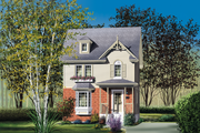 Victorian Style House Plan - 2 Beds 1.5 Baths 1152 Sq/Ft Plan #25-2002 Exterior - Front Elevation