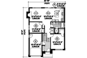 Contemporary Style House Plan - 2 Beds 1 Baths 1064 Sq/Ft Plan #25-4284 Floor Plan - Main Floor Plan