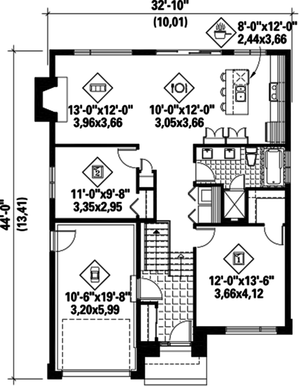 Home Plan - Contemporary Floor Plan - Main Floor Plan #25-4284