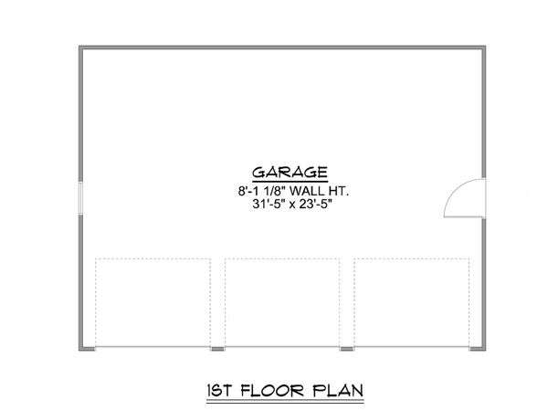 Country Floor Plan - Main Floor Plan Plan #1064-53