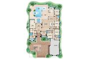 Mediterranean Style House Plan - 4 Beds 4 Baths 5607 Sq/Ft Plan #27-454 Floor Plan - Main Floor Plan