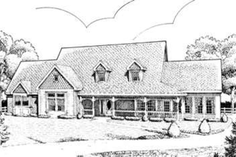 Victorian Exterior - Front Elevation Plan #410-266