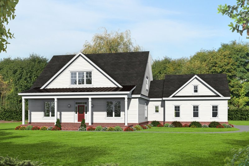 Dream House Plan - Country Exterior - Front Elevation Plan #932-276