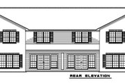 Traditional Style House Plan - 3 Beds 2 Baths 7600 Sq/Ft Plan #17-2282 Exterior - Rear Elevation