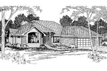 Modern Exterior - Front Elevation Plan #124-278