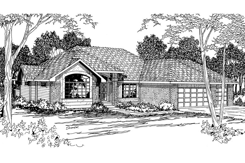 Modern Style House Plan - 3 Beds 2 Baths 2035 Sq/Ft Plan #124-278 Exterior - Front Elevation