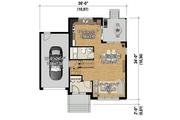 Contemporary Style House Plan - 3 Beds 1 Baths 1385 Sq/Ft Plan #25-4719 Floor Plan - Main Floor Plan