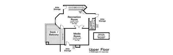 European Floor Plan - Upper Floor Plan Plan #310-1308