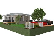 Cottage Style House Plan - 1 Beds 1 Baths 825 Sq/Ft Plan #499-4 Exterior - Front Elevation