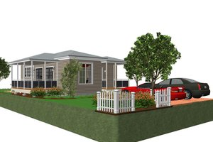 Cottage Exterior - Front Elevation Plan #499-4