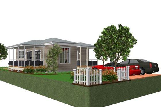Cottage Exterior - Front Elevation Plan #499-4