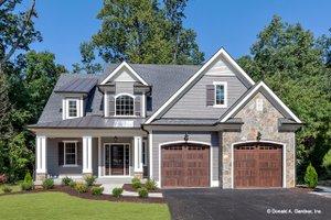 Cottage Exterior - Front Elevation Plan #929-1066