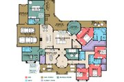 Mediterranean Style House Plan - 4 Beds 4.5 Baths 3599 Sq/Ft Plan #63-428 Floor Plan - Main Floor