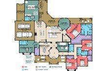 Mediterranean Floor Plan - Main Floor Plan Plan #63-428