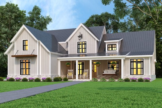 Farmhouse Exterior - Front Elevation Plan #119-436