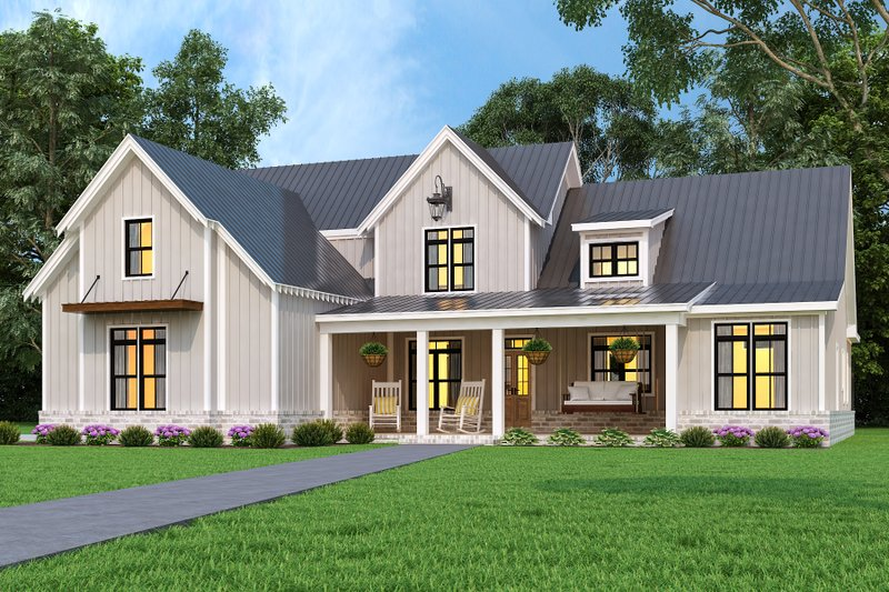 Home Plan - Farmhouse Exterior - Front Elevation Plan #119-436