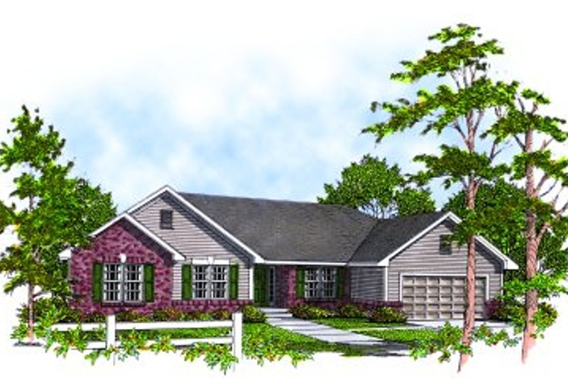 Traditional Exterior - Front Elevation Plan #70-194