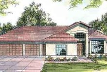 Mediterranean Exterior - Front Elevation Plan #124-411