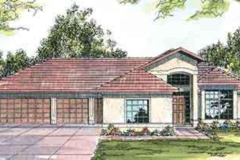 Dream House Plan - Mediterranean Exterior - Front Elevation Plan #124-411
