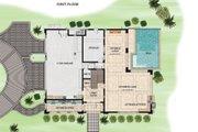 Beach Style House Plan - 4 Beds 4.5 Baths 5680 Sq/Ft Plan #548-12 Floor Plan - Lower Floor