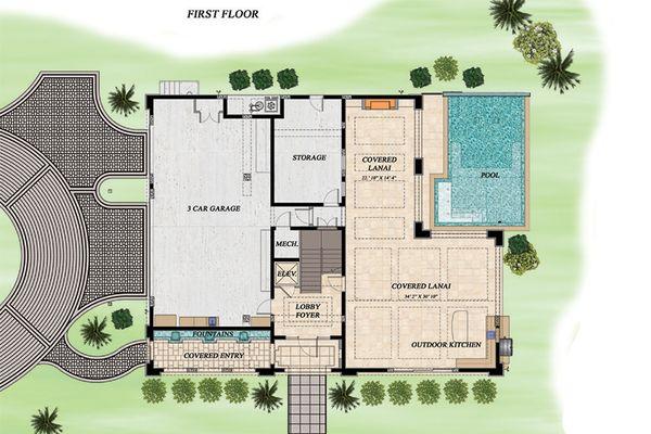 Beach Floor Plan - Lower Floor Plan #548-12