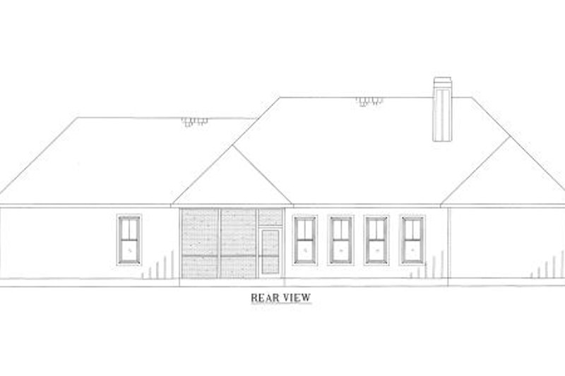 Country Exterior - Rear Elevation Plan #437-43 - Houseplans.com