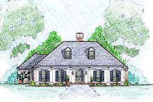 Home Plan - Southern Exterior - Front Elevation Plan #36-489