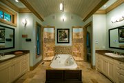 Craftsman Style House Plan - 3 Beds 3 Baths 3642 Sq/Ft Plan #54-391 Interior - Master Bathroom