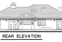 Ranch Exterior - Rear Elevation Plan #18-130