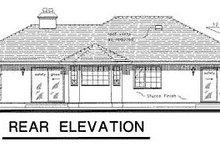 House Blueprint - Ranch Exterior - Rear Elevation Plan #18-130