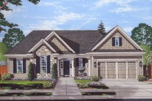Ranch Exterior - Front Elevation Plan #46-872