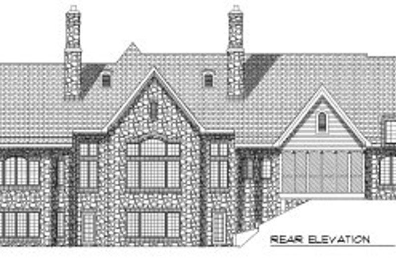 European Exterior - Rear Elevation Plan #70-769 - Houseplans.com
