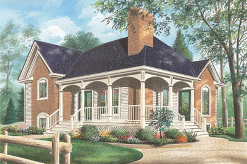 Home Plan - Traditional Exterior - Front Elevation Plan #23-160