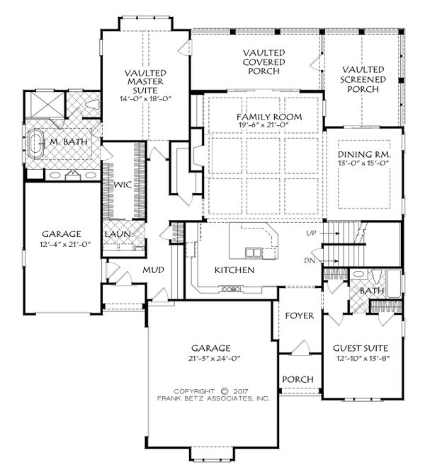 Craftsman Floor Plan - Main Floor Plan Plan #927-991