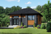 Contemporary Style House Plan - 2 Beds 1 Baths 900 Sq/Ft Plan #25-4287 Exterior - Front Elevation