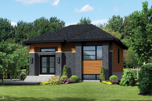 House Plan Design - Contemporary Exterior - Front Elevation Plan #25-4287