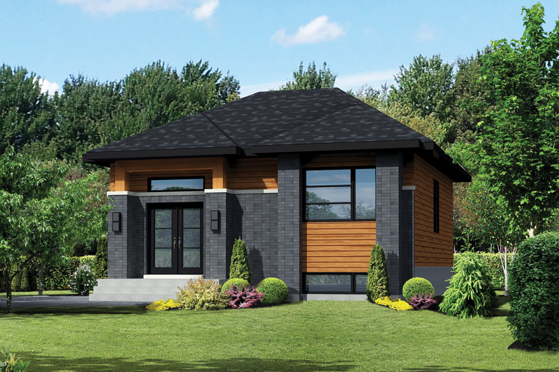 Dream House Plan - Contemporary Exterior - Front Elevation Plan #25-4287