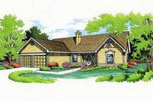 Architectural House Design - Traditional Exterior - Front Elevation Plan #45-112
