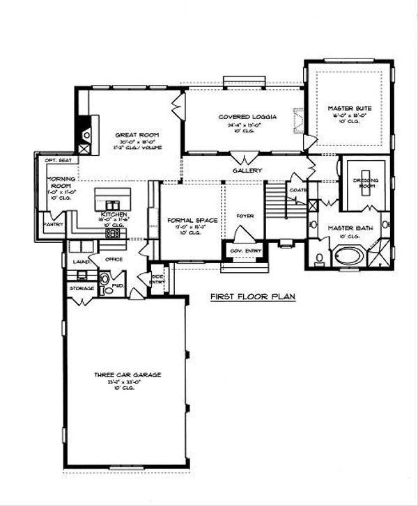 European Floor Plan - Main Floor Plan Plan #413-141