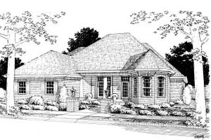 Traditional Exterior - Front Elevation Plan #20-363