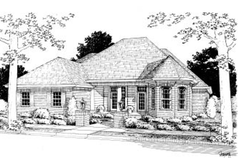 Architectural House Design - Traditional Exterior - Front Elevation Plan #20-363