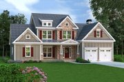 Craftsman Style House Plan - 3 Beds 2.5 Baths 2351 Sq/Ft Plan #419-188 Exterior - Front Elevation
