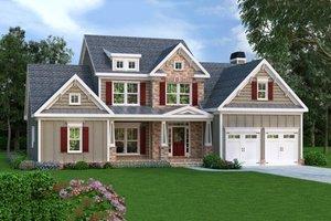Craftsman Exterior - Front Elevation Plan #419-188